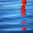 Realistic Abstract ~ Buoy Reflection by Laurie Minor