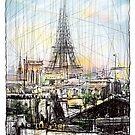 Paris 10 in colour by Tatiana Ivchenkova
