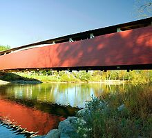 Reflections of the Millmont Covered Bridge by Gene Walls