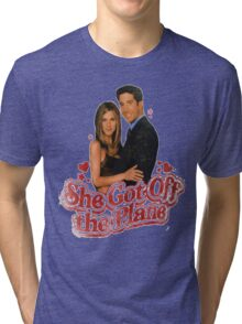 She Got Off The Plane Tri-blend T-Shirt