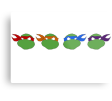 TMNT graphic heads Metal Print