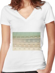 Blue Sky Thinking Women's Fitted V-Neck T-Shirt