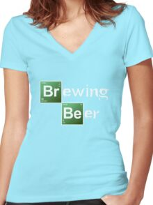 Brewing Beer Women's Fitted V-Neck T-Shirt