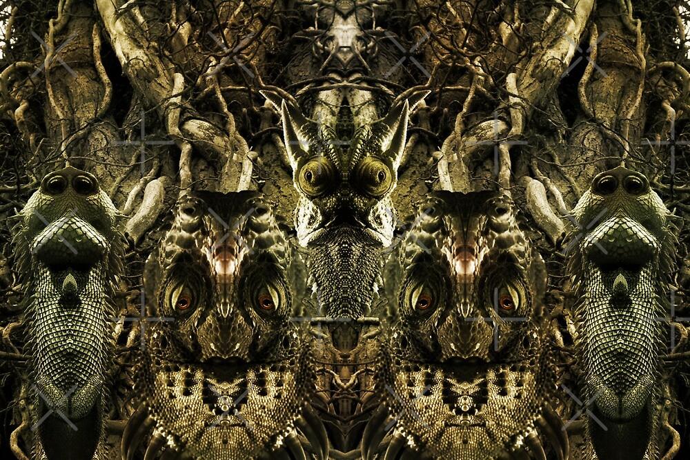 Arborial Squamata by Yampimon