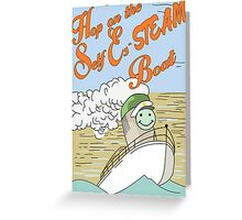 Hop on the Self Es-STEAM Boat. Bob's Burgers Greeting Card