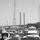 Boats at Docklands by kalaryder