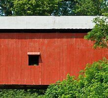 Oakalla Covered Bridge in Indiana by Kenneth Keifer