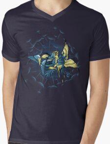 Birdfight Mens V-Neck T-Shirt