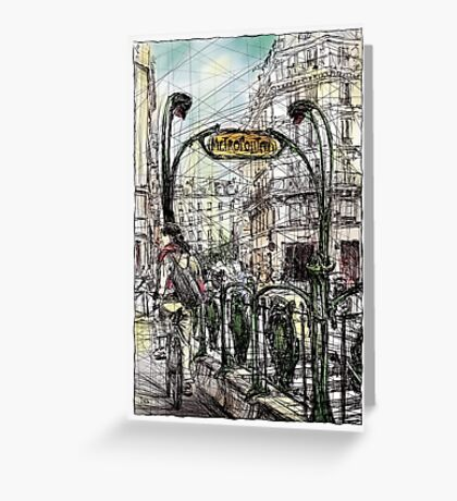 Paris 6 in colour Greeting Card