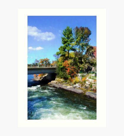 Autumn Cottage Landscape Art Print