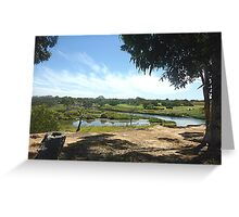 Werribee River & Golf course Greeting Card