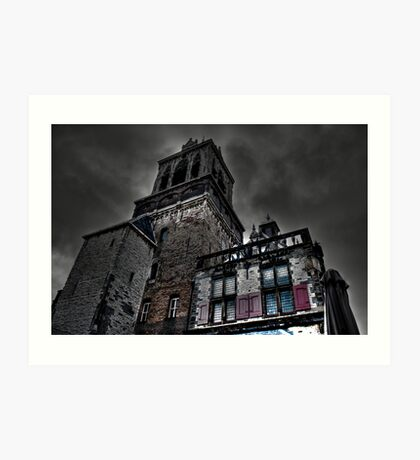 Haunted Mansion HDR Art Print