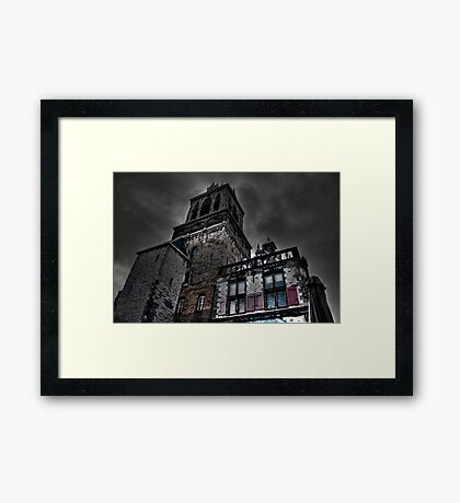 Haunted Mansion HDR Framed Print