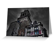 Haunted Mansion HDR Greeting Card