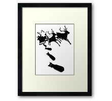 Santa Bombs Framed Print