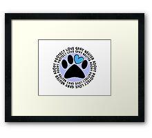 Animal Adoption Cards  Framed Print