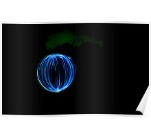 Light painting: Orb Poster