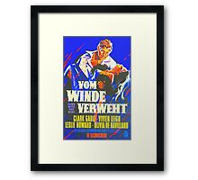 German poster of Gone with the Wind Framed Print