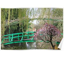 The Bridge in Monet's water lillies paintings Poster
