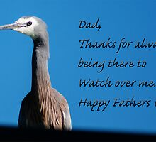 Happy Fathers Day - Heron Card by Deborah McGrath