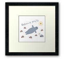 Cartoon baby seal Framed Print