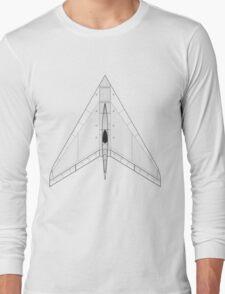 Horten Ho XIIIB Flying Wing Concept Long Sleeve T-Shirt