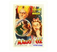 Italian poster of The Wizard of Oz Art Print