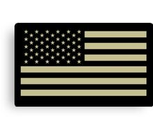 AMERICAN, ARMY, reverse side flag, Soldier, American Military, Arm Flag, US Military, IR, Infrared, USA, Flag, on BLACK Canvas Print