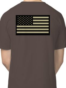 AMERICAN, ARMY, reverse side flag, Soldier, American Military, Arm Flag, US Military, IR, Infrared, USA, Flag, on BLACK Classic T-Shirt