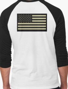 AMERICAN ARMY, Soldier, American Military, Arm Flag, US Military, IR, Infrared, Reflective, USA, Flag, on BLACK T-Shirt