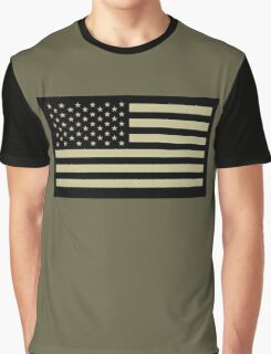 AMERICAN, ARMY, reverse side flag, Soldier, American Military, Arm Flag, US Military, IR, Infrared, USA, Flag, on BLACK Graphic T-Shirt