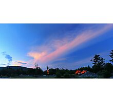 Sunset Across from the Town Garage Photographic Print