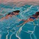 Swimming underwater by Freda Surgenor