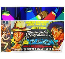 Belgian poster of The Man Who Shot Liberty Valance Poster