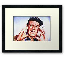 John Wayne in Hatari! Framed Print