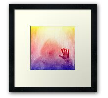 Outsider Series: Burning Hand Framed Print