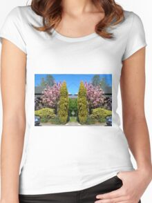 Blossoms in Akaroa Women's Fitted Scoop T-Shirt
