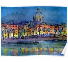 Genova pegli by night Poster