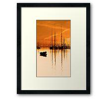 Tall Ships At Dawn Framed Print