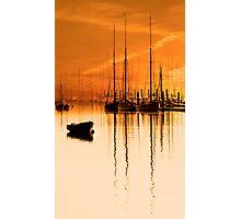 Tall Ships At Dawn Photographic Print