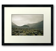 Glacial Valley, New Zealand Framed Print