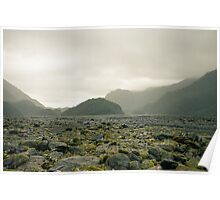 Glacial Valley, New Zealand Poster