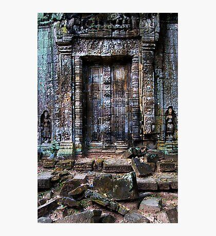 Ancient Temple Blind Doors Photographic Print