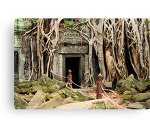 Ta Prohm Temple Ruins in Cambodia Canvas Print
