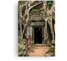 Entrance to the Ta Prohm Temple in Cambodia Canvas Print