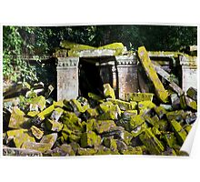 Ancient Temple Ruins in Cambodia Poster