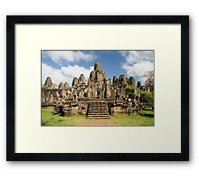 Bayon Temple in Cambodia Framed Print
