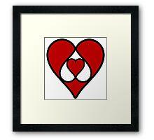 heart poker love symbol Framed Print