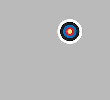 Bulls eye, on Breast, Red, White, Blue, Roundel, Target, SMALL ON BLACK by TOM HILL - Designer