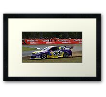 Dean Fiore Running It Wide At The V8 Supercars Framed Print
